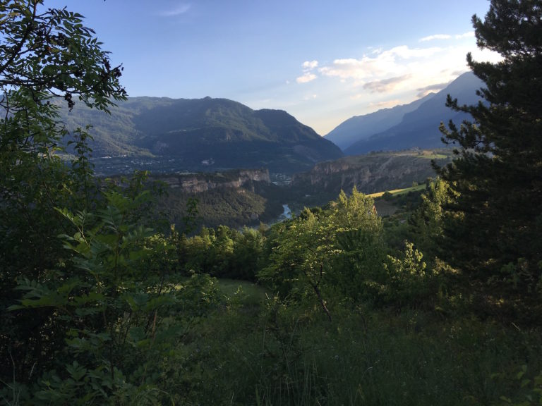 Vallée du Guil, vue depuis la Font d'Eygliers
