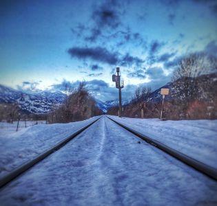 Chemin de fer en direction de Briançon