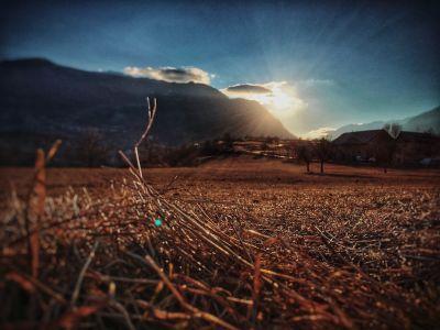 Coucher du soleil sur Montdauphin