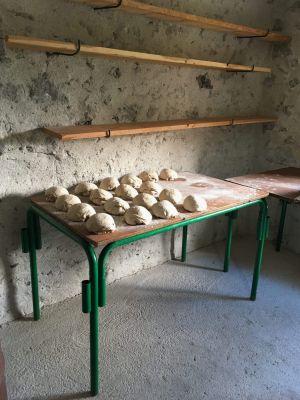 Les pains avant d'aller dans le four