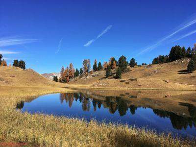 Lac Miroir en bleu