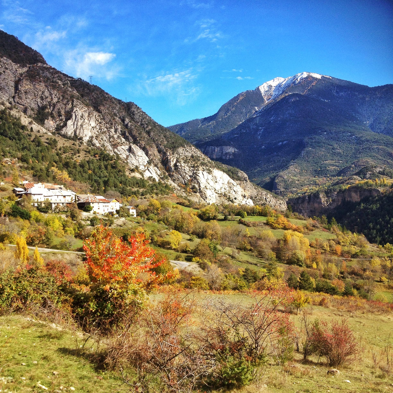 Vue d'automne sur la Font d'Eygliers