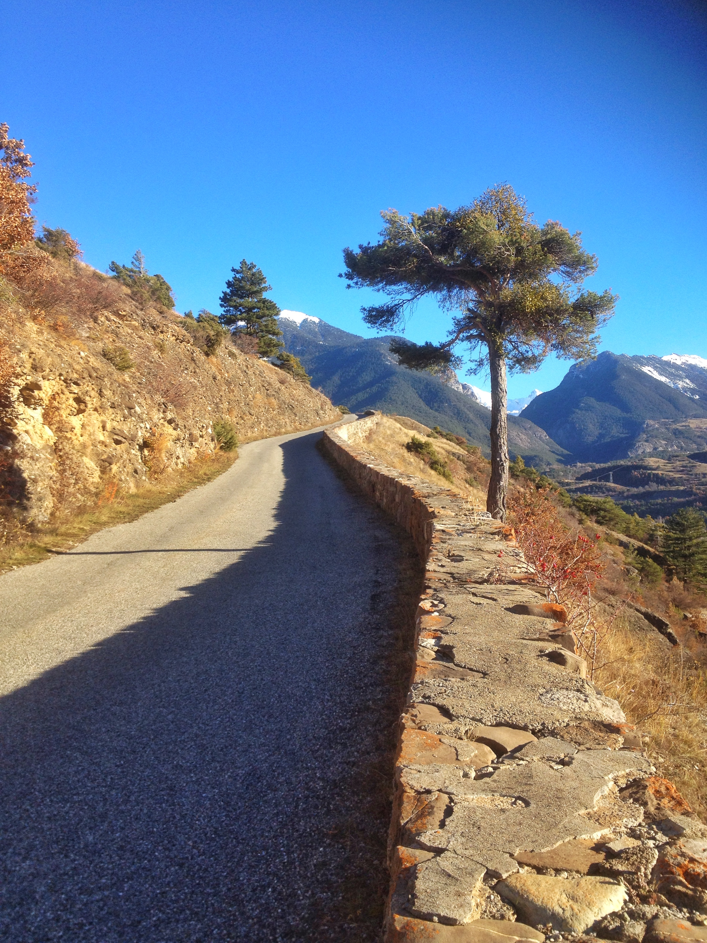 Sur la montée depuis Saint Guillaume vers la porte d'Embrun