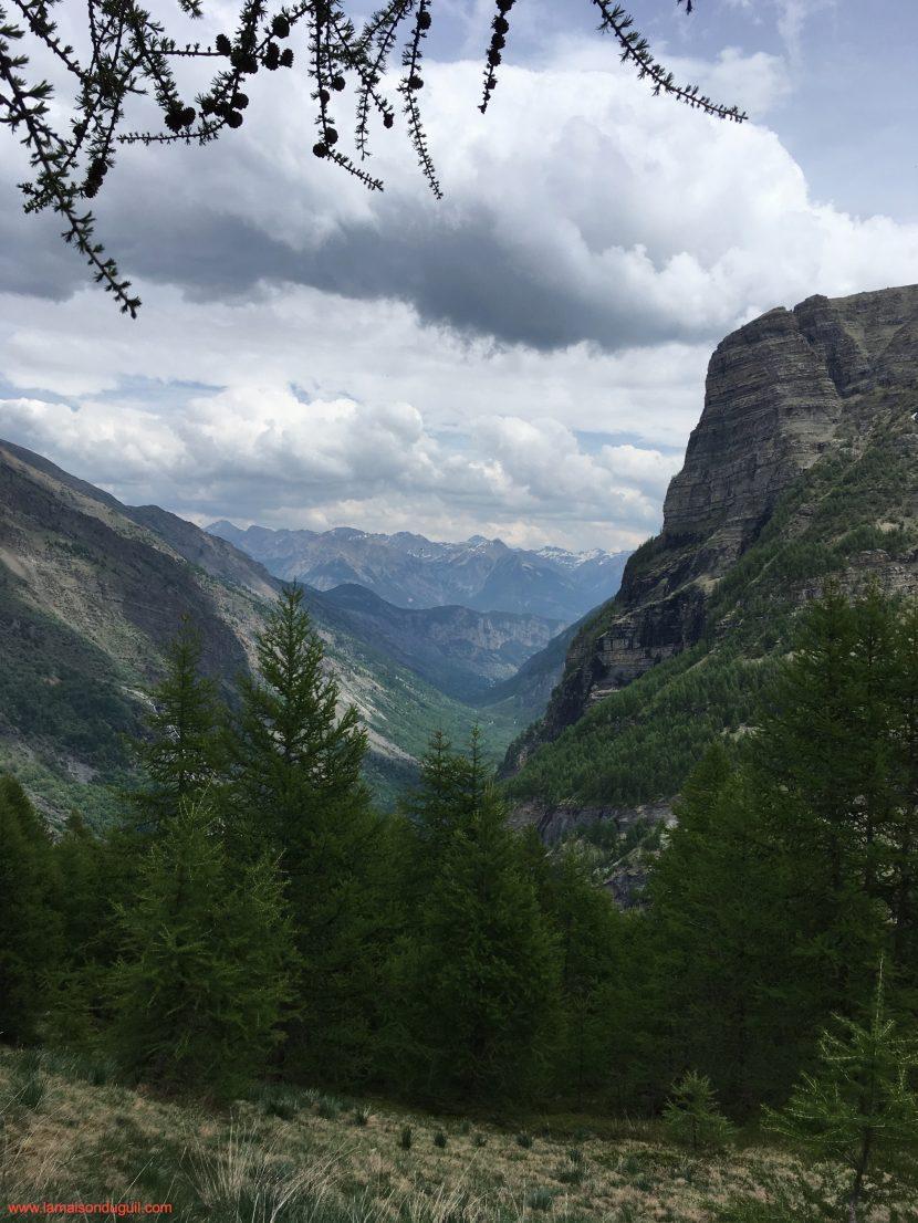 Vue sur la vallée de Freissinières