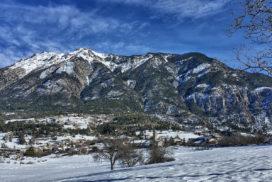 Eygliers et le Catinat en hiver