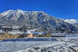 Mont Dauphin et le Catinat en hiver