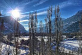 La vallée de la Durance en hiver